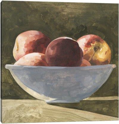 Bowl of Peaches II Canvas Art Print