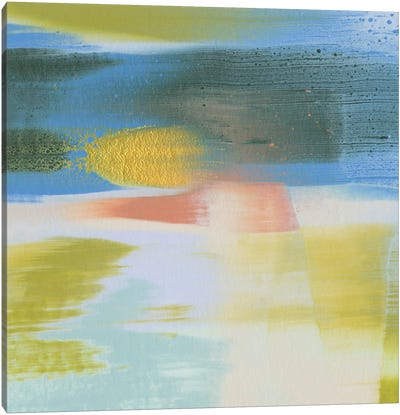 Rainbow Scrape I Canvas Art Print