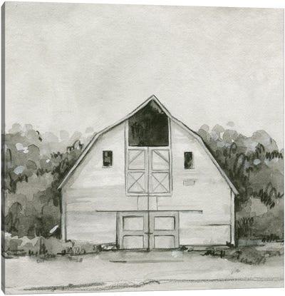 Solemn Barn Sketch III Canvas Art Print