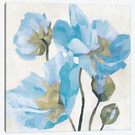 Azure Peony I Canvas Print #EMC1} by Emma Caroline Canvas Print
