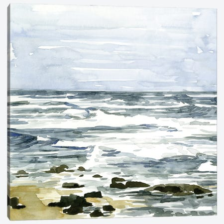 Loose Seascape I 3-Piece Canvas #EMC31} by Emma Caroline Canvas Wall Art