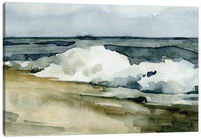 Loose Watercolor Waves II Canvas Art Print