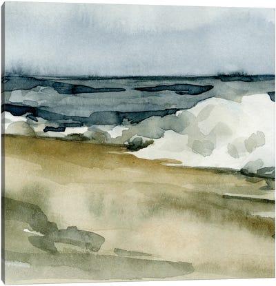Loose Watercolor Waves V Canvas Art Print