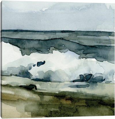 Loose Watercolor Waves VI Canvas Art Print