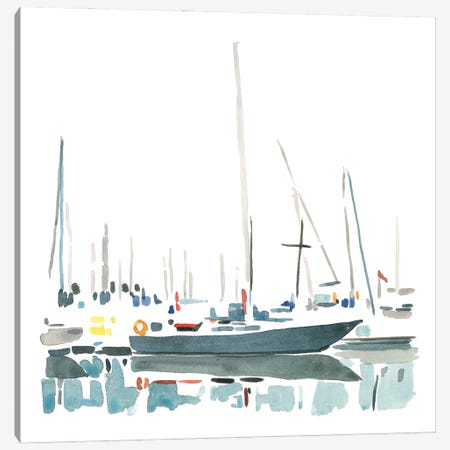 Sailboat Scenery I Canvas Print #EMC40} by Emma Caroline Canvas Print