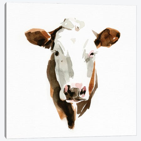 Watercolor Bovine III Canvas Print #EMC44} by Emma Caroline Canvas Art