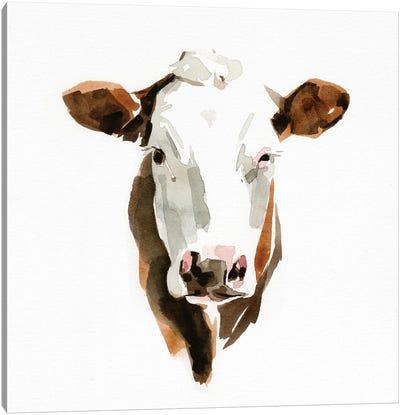Watercolor Bovine III Canvas Art Print