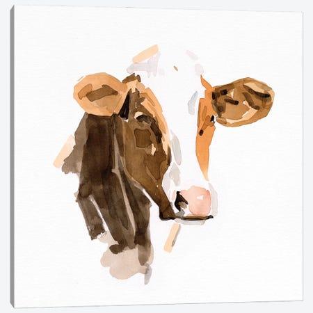 Watercolor Bovine IV Canvas Print #EMC45} by Emma Caroline Canvas Wall Art