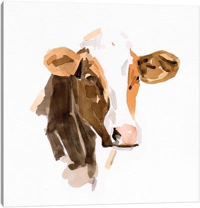 Watercolor Bovine IV Canvas Art Print