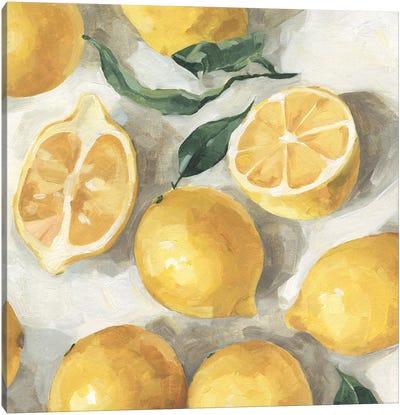 Fresh Lemons II Canvas Art Print