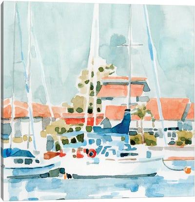 Beach Town Summer I Canvas Art Print