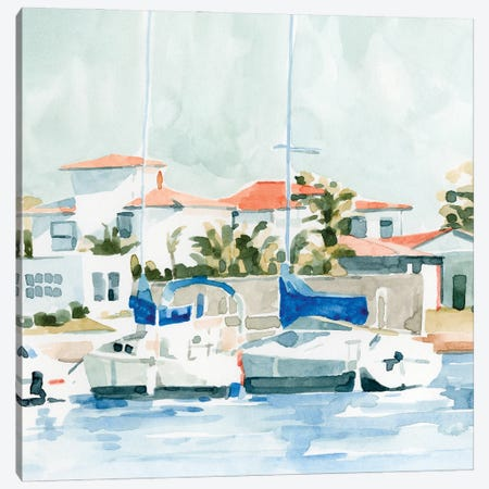 Beach Town Summer II Canvas Print #EMC78} by Emma Caroline Canvas Artwork