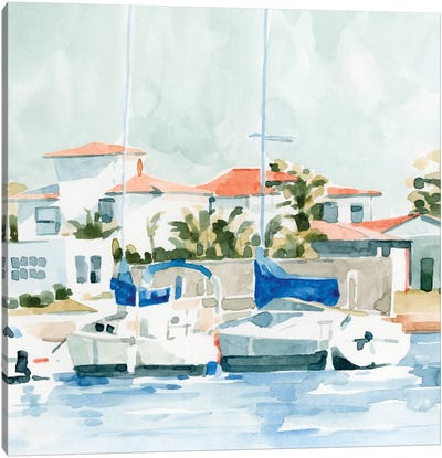Beach Town Summer II Canvas Art Print