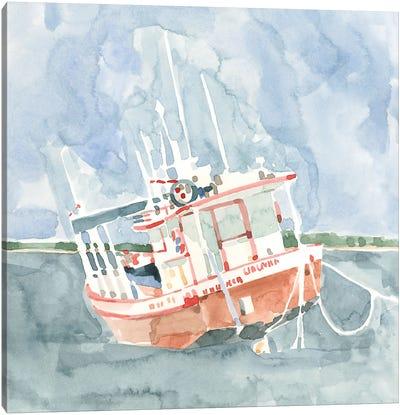 Bright Fishing Boat I Canvas Art Print