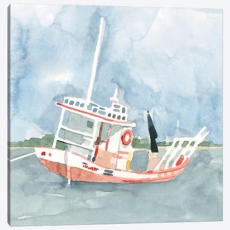Bright Fishing Boat II Canvas Print #EMC80} by Emma Caroline Canvas Print