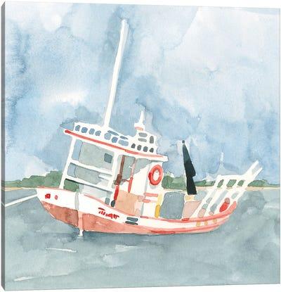Bright Fishing Boat II Canvas Art Print