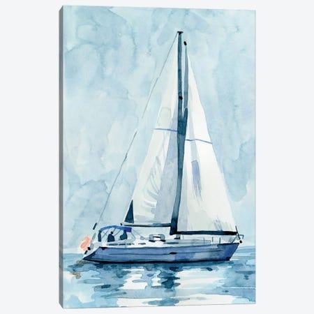 Lone Sailboat II Canvas Print #EMC94} by Emma Caroline Art Print