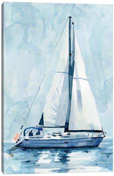 Lone Sailboat II Canvas Art Print