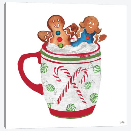 Gingerbread and a Mug Full of Cocoa I Canvas Print #EMD100} by Elizabeth Medley Art Print