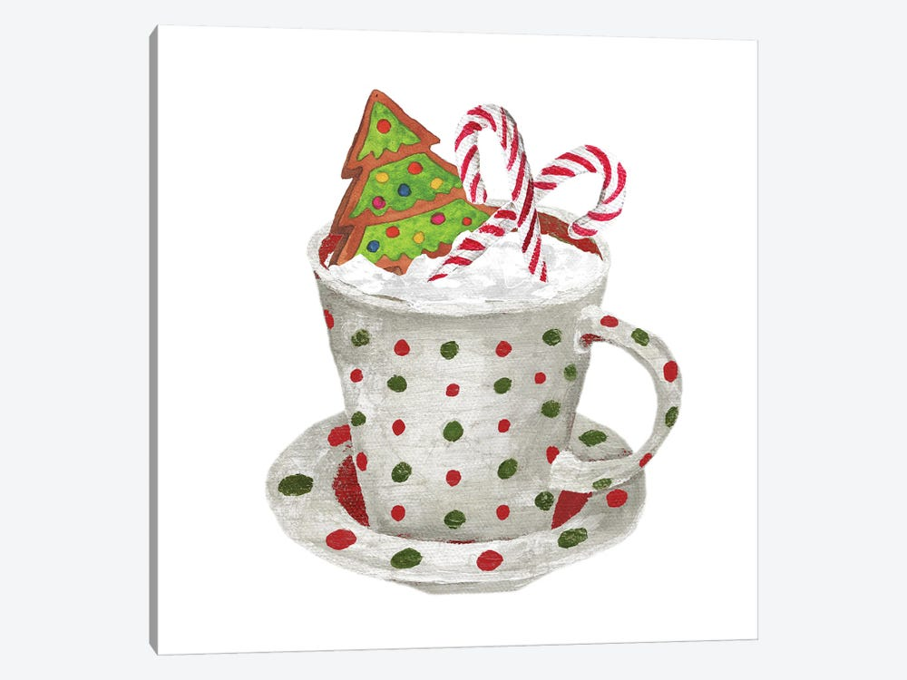 Gingerbread and a Mug Full of Cocoa II by Elizabeth Medley 1-piece Canvas Artwork