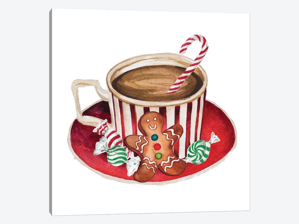 Gingerbread and a Mug Full of Cocoa III by Elizabeth Medley 1-piece Canvas Art Print