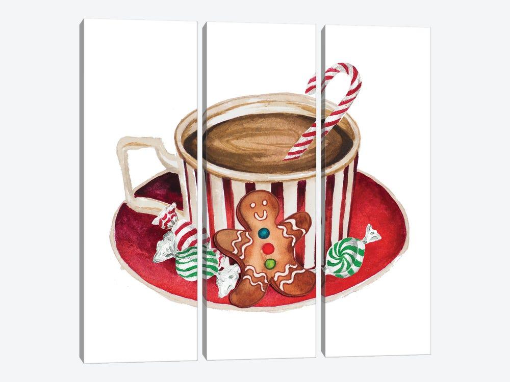 Gingerbread and a Mug Full of Cocoa III by Elizabeth Medley 3-piece Canvas Art Print