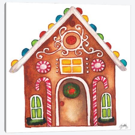 Gingerbread and Candy House I Canvas Print #EMD104} by Elizabeth Medley Canvas Artwork