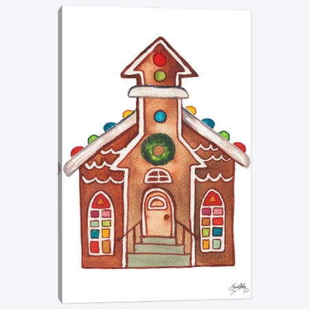 Gingerbread and Candy House II Canvas Print #EMD105} by Elizabeth Medley Canvas Art