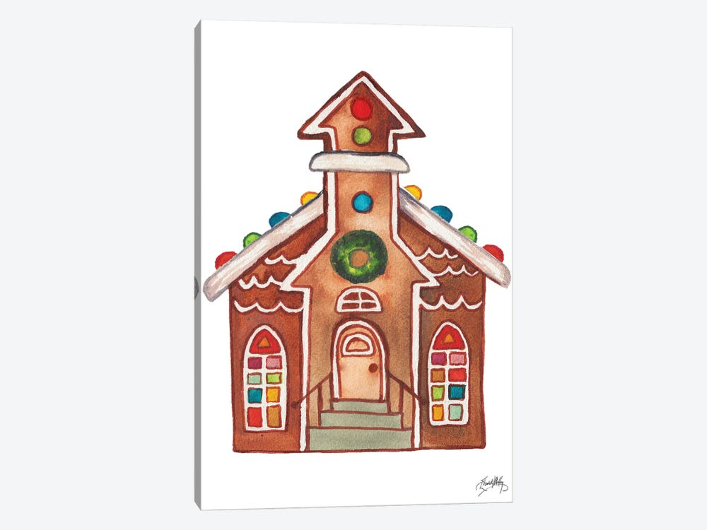 Gingerbread and Candy House II by Elizabeth Medley 1-piece Canvas Artwork
