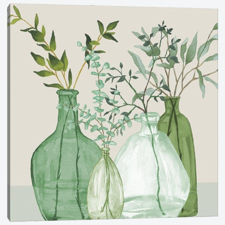 Green Serenity Accents Canvas Print #EMD106} by Elizabeth Medley Canvas Artwork