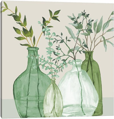 Green Serenity Accents Canvas Art Print