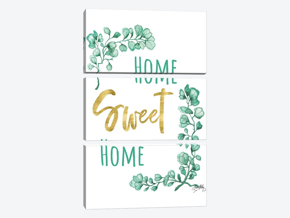 Home Sweet Home by Elizabeth Medley 3-piece Canvas Wall Art