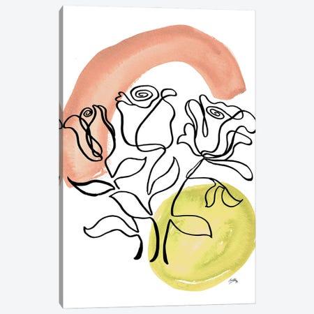 Modern Floral Line II Canvas Print #EMD109} by Elizabeth Medley Canvas Art Print