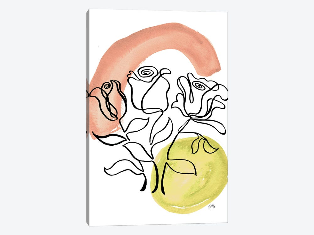 Modern Floral Line II by Elizabeth Medley 1-piece Canvas Art