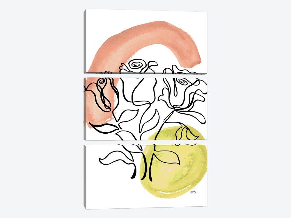 Modern Floral Line II by Elizabeth Medley 3-piece Canvas Artwork
