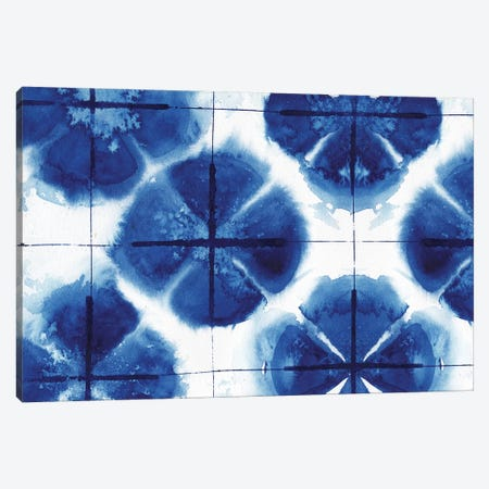 Indigo Shibori Collection I Canvas Print #EMD10} by Elizabeth Medley Canvas Art Print