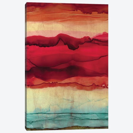 New Mountain Abstract Canvas Print #EMD110} by Elizabeth Medley Canvas Art