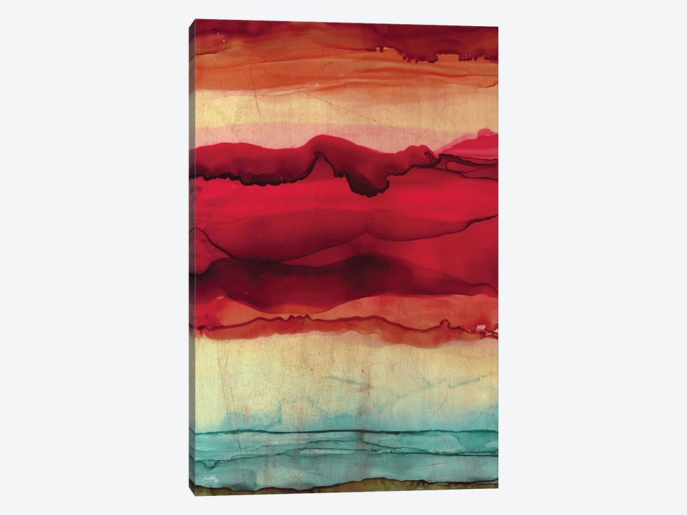 New Mountain Abstract by Elizabeth Medley 1-piece Canvas Art