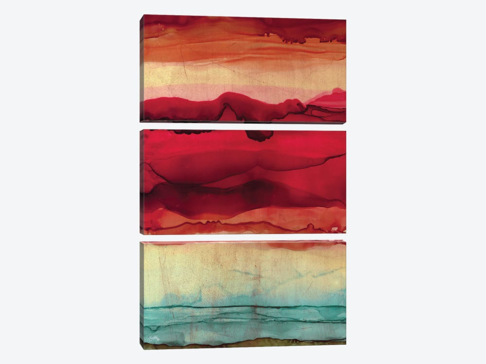 New Mountain Abstract by Elizabeth Medley 3-piece Canvas Art