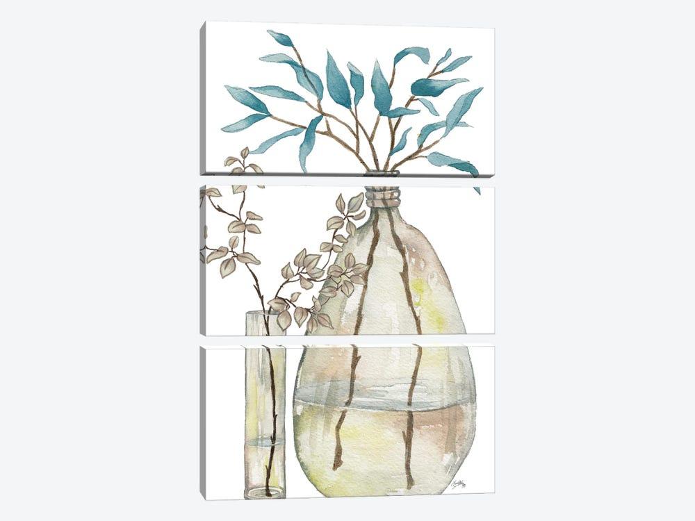 Serenity Accents I by Elizabeth Medley 3-piece Canvas Print