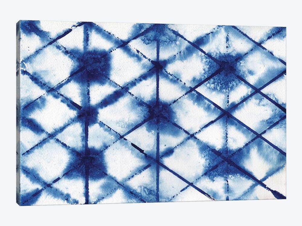 Indigo Shibori Collection III by Elizabeth Medley 1-piece Canvas Artwork