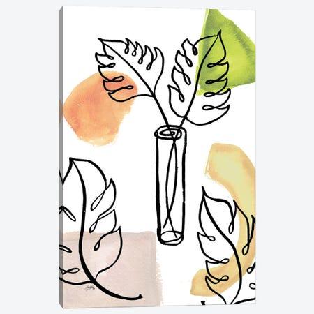 Tropical Palm Contours II Canvas Print #EMD122} by Elizabeth Medley Art Print