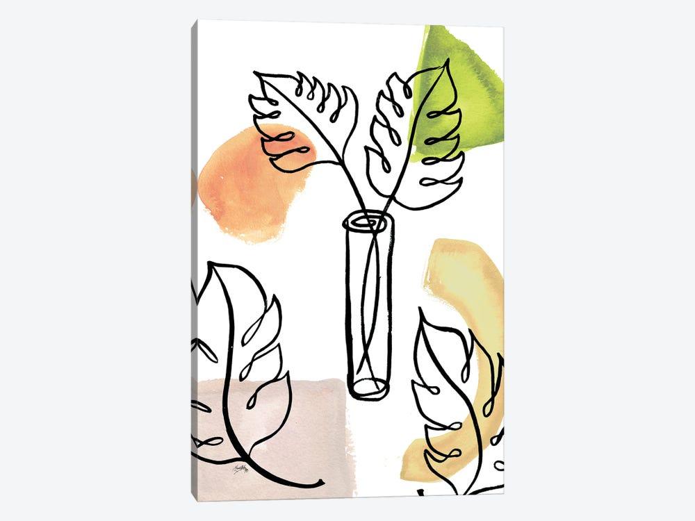 Tropical Palm Contours II by Elizabeth Medley 1-piece Canvas Print