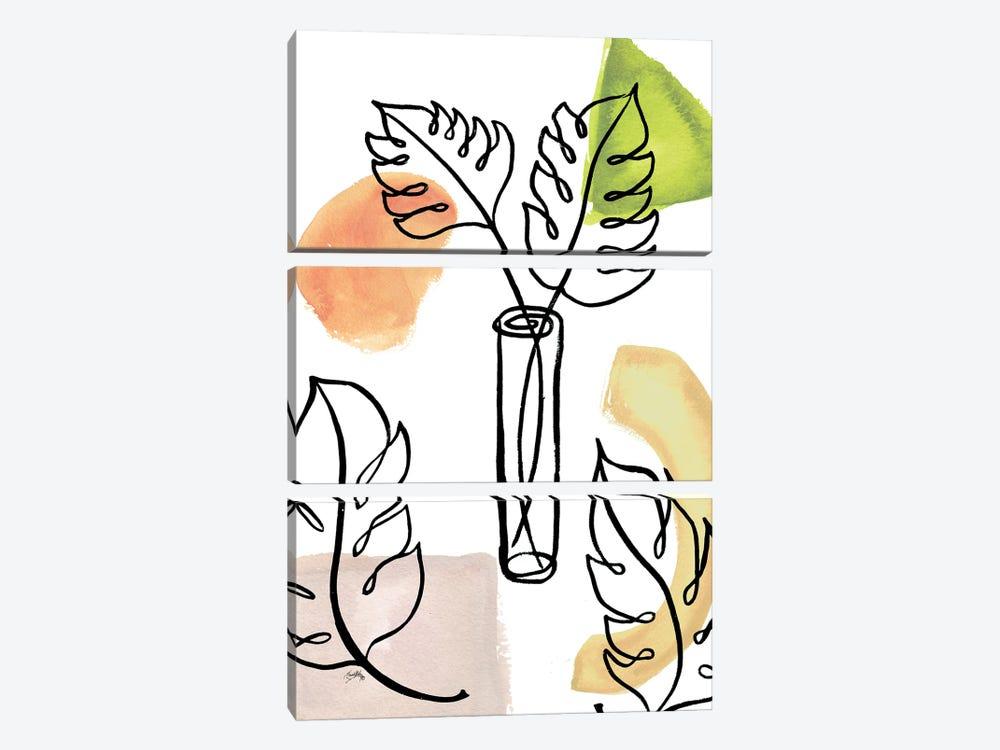 Tropical Palm Contours II by Elizabeth Medley 3-piece Canvas Art Print