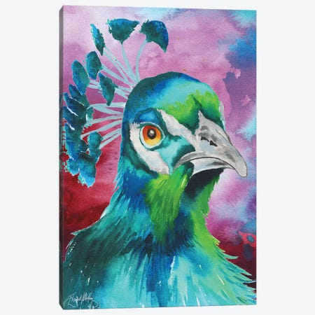 Peacocks of a Feather Canvas Print #EMD12} by Elizabeth Medley Art Print
