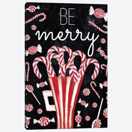 Peppermint Candy Cane Wishes Canvas Print #EMD133} by Elizabeth Medley Canvas Artwork