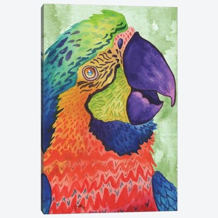 Perfect Parrot Canvas Print #EMD13} by Elizabeth Medley Art Print