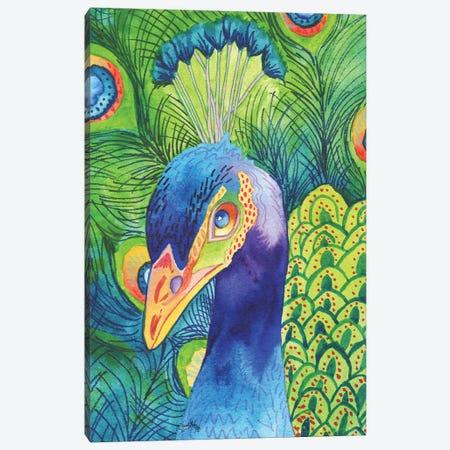 Perfect Peacock Canvas Print #EMD14} by Elizabeth Medley Canvas Art