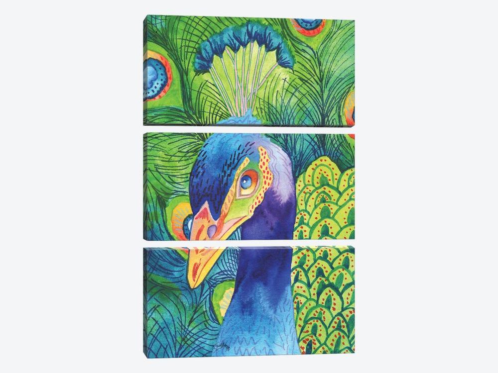 Perfect Peacock by Elizabeth Medley 3-piece Art Print
