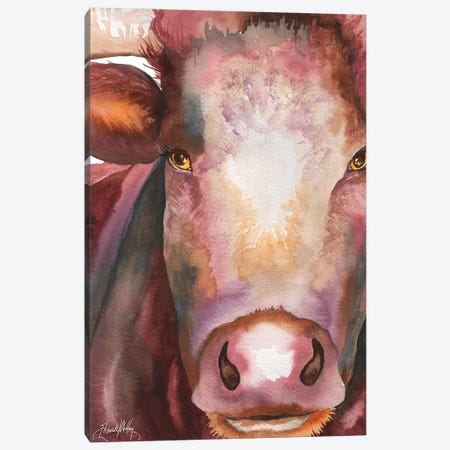 Portrait of a Bull 3-Piece Canvas #EMD15} by Elizabeth Medley Canvas Artwork